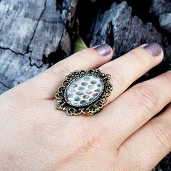 Dragon Scale Ring - real snake shed