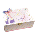 Pink with Coloured Spots Baby, Keepsake, Trinket, Memory, Treasure Wooden Box