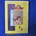 'Raphaels' Angels' Handmade Paper in Yellow and Gold Notebook