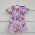 Pretty baby girls Dress, baby girls dress, handmade size 1.