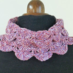 Post free. Cowl collar, neck warmer, ear snug in soft wool.  pinks.