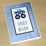 Kids Happy Birthday card -  Monster truck