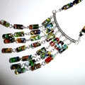 Millefiori glass column necklace