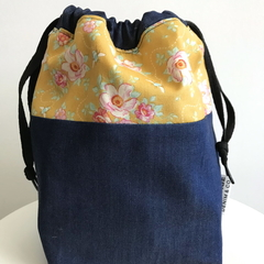Mustard Vintage Rose Bag