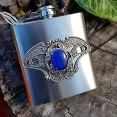 Steampunk Hip Flask - with free funnel and velvet pouch