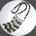 Millefiori glass column necklace