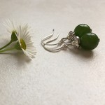 Olive Malaysian Jade Bead Earrings