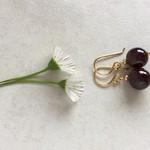 Garnet Gemstone & Gold Vermeil Style Earrings, Unique Gift