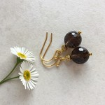 Quartz & Tibetan Bead Earrings, Unique Gift