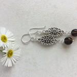 Quartz Gemstone & Tibetan Bead Earrings