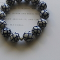 Hand Painted Fish Scales Porcelain Beaded Stretch Bracelet