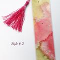 Set of 4 Abstract Watercolour Tassel Bookmark FREE SHIP in Australia!