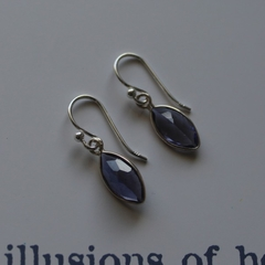 Amethyst & Sterling Silver Drop Earrings