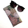 Padded Sunglasses Pouch in Unusual Floral Fabric