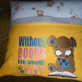 """Reading Bear"" Reading/Pocket Cushion  (cover only)"