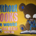 """""""Reading Bear"""" Reading/Pocket Cushion  (cover only)"""