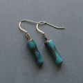 Sterling Silver & Handmade Porcelain Beads Drop Earrings