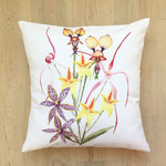 Native Australian Orchids cushion cover