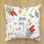 Native Australian mixed flora cushion cover
