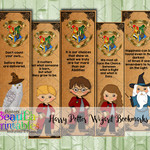 Wizard Bookmarks - Harry Potter Bookmarks - Printable - Instant Download