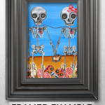 """The Two Skeletons"" Art Print by artist Jaz Higgins"