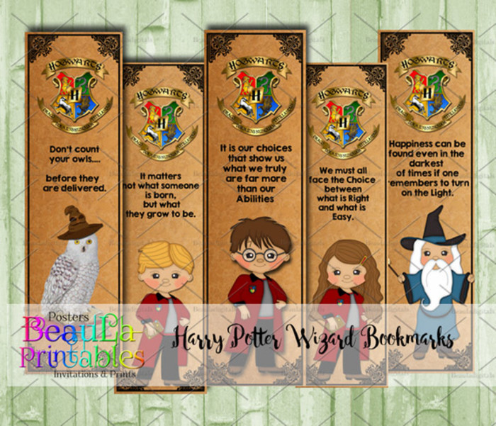 photograph relating to Printable Harry Potter Bookmarks named Wizard Bookmarks - Harry Potter Bookmarks - Printable