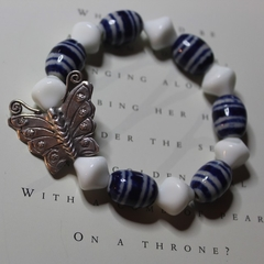 Beaded Butterfly Stretch Bracelet