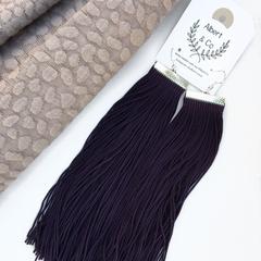 Extra long purple tassel dangles