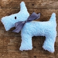 Otis Upcycled  Vintage Chenille Scotty Dog