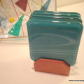 Turquoise Coasters - set of 4 with a free display stand