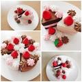 Felt Cake Play Food Kitchen Tea Party 100% Wool Felt Birthday Christmas Gift