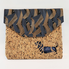 Over Sized Dog Cork Clutch