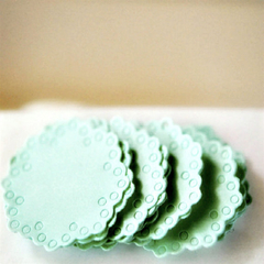 Mint Doily Seals {10} | Mint Envelope Seals | Baby Shower Announcement