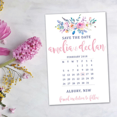 Save the Dates - Calender Style