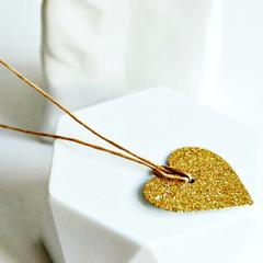 Glitter Heart Tags | Gold Heart Tags | Gold Glitter Tags | Heart Tags
