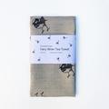 Fairy wren screen printed linen tea towel