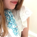 Silk Scarf with fish print 60cm x 60cm