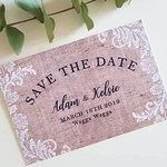 Save the Dates - Rustic