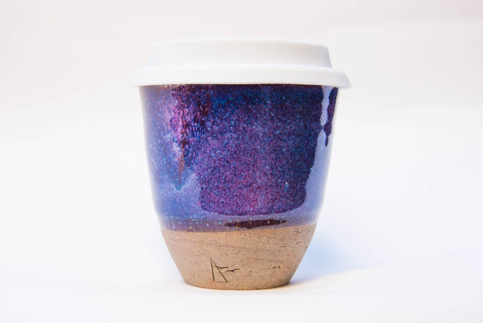 Handmade Ceramic Reusable Coffee Cup Keep Cup With