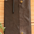 A4 Vintage Brown Recycled Leather notebook cover