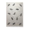 Scarlet robin screen printed linen tea towel