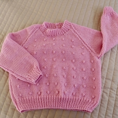 SIZE 4 yrs: Jumper in Pink : washable, fashionable