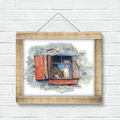 Ginger Cat Instant Download Printable Art   A3, A4 & A5   Quirky Wall Art