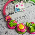 I Heart Cactus - Necklace Buttons and Polymer - Jewellery - Earrings