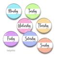 Days of the Week fridge magnets