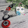 Black and White Ladybugs - Button Necklace
