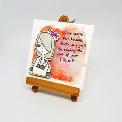 Headline Series : Arya Original Ink on Watercolor Paper