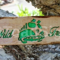 Wild & Free VW Kombi Reclaimed Timber Sign