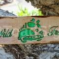 Wild & Free VW Kombi Reclaimed Timber Sign