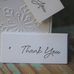 12 Thank You Tags ~ Party Favour Tags ~ Thank you Gift Tag